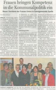 20130412LT_SpelleFrauenUnionderSamtgemeindeSpelleMitgliederversammlungNeuer Vorstand